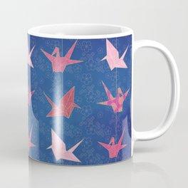 Chains of hanging paper cranes Coffee Mug