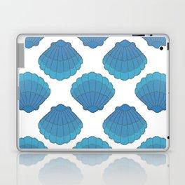 Blue Seashell Mosaic Pattern Laptop & iPad Skin