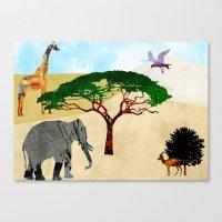 safari Canvas Prints featuring Safari by Design4u Studio