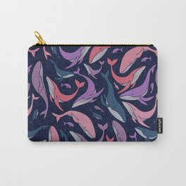 A school of whales - pink and purple Carry-All Pouch