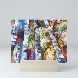 White Aspen an Birch Trees Mini Art Print