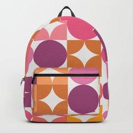 Mid Century Shimmering Sunset Backpack