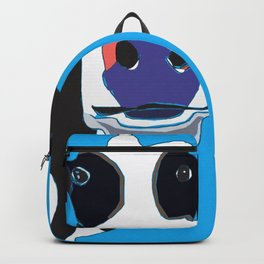 Black and white Cow in the Blue Sky Backpack