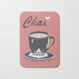 Chai Will Always Love You - Autumn Latte Silkscreen Print Bath Mat