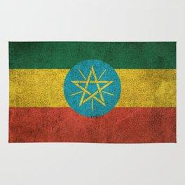 Old and Worn Distressed Vintage Flag of Ethiopia Rug