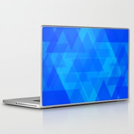 Bright blue and celestial triangles in the intersection and overlay. Laptop & iPad Skin