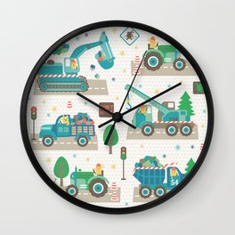 Truck monsters Wall Clock