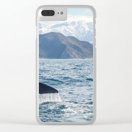 Diving Whale Clear iPhone Case