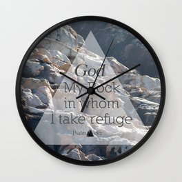 My God My Rock Wall Clock