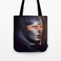 mass effect Tote Bags featuring Mass Effect: EDI by Ruthie Hammerschlag