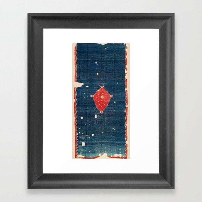 Balikesir  Antique Turkish Kilim Rug Print Gerahmter Kunstdruck
