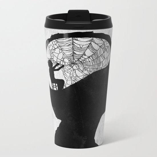 Musarañas (black and white) Metal Travel Mug