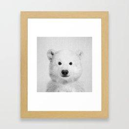Polar Bear - Black & White Framed Art Print