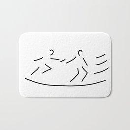 relay race athletics stick Bath Mat