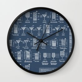 COCKTAIL poster Wall Clock