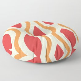 Pretty Ogee Pattern 383 Red and Orange Floor Pillow