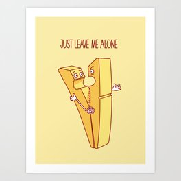 clothespin Art Print
