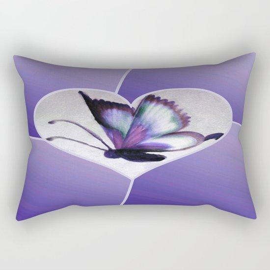 Butterfly Love - Purple Rectangular Pillow