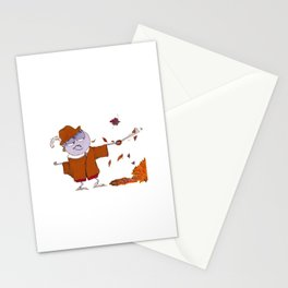 Charly fights leaves Stationery Cards