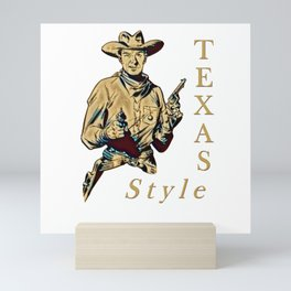 Texas Style Mini Art Print