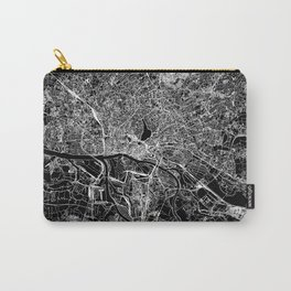 Hamburg Black Map Carry-All Pouch