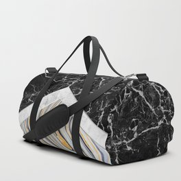 Arrows - Black Granite, White Marble & Blue Marble #182 Duffle Bag