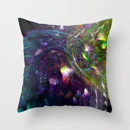 Black Peacocks Throw Pillow