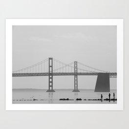Silent Bridge Art Print