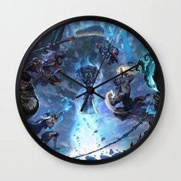 Worlds 2017 Promo Garen Wukong Ashe Ziggs Lee Sin Thresh Wallpaper Background Official Art Artwork Wall Clock