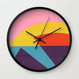 Pink Cocktail Wall Clock