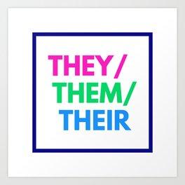 Polysexual Nonbinary Pride Art Print