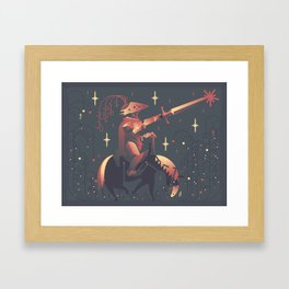 A Starry Knight Framed Art Print