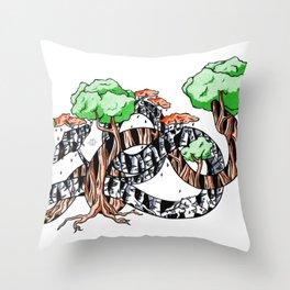 Tree Serpents Throw Pillow