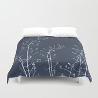 reassurance Duvet Covers featuring Jasmine In the Still of the Night by tanjica