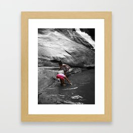 Young Humans & Nature Framed Art Print