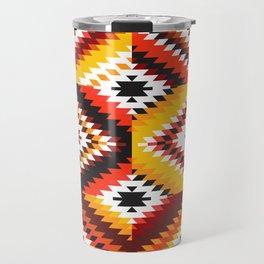 Colorful patchwork mosaic, oriental kilim rug Travel Mug