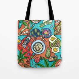 Ocean Grown : Cannabis Altar III Tote Bag