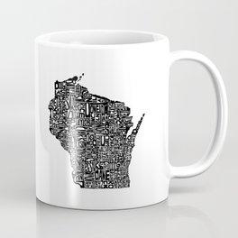 Typographic Wisconsin Coffee Mug
