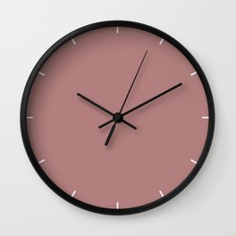 Ash Rose | Pantone Fashion Color | Spring : Summer 2018 | London | Solid Color Wall Clock