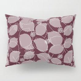 Rose Leaf Layer Print (Wine) Pillow Sham