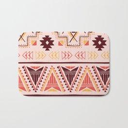 Pink tribal pattern Bath Mat