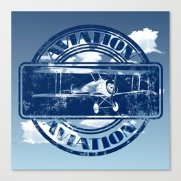 Retro Aviation Art Canvas Print