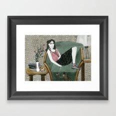 Cozy Chair Framed Art Print