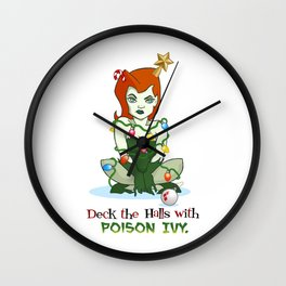 Deck the Halls with Poison Ivy Wall Clock