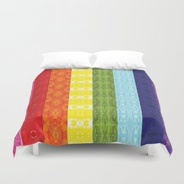 TorsoPattern Gay Pride Flag (Original 8-Color) Duvet Cover
