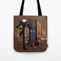 hallion Tote Bags featuring What's This? What's This? by Karen Hallion Illustrations