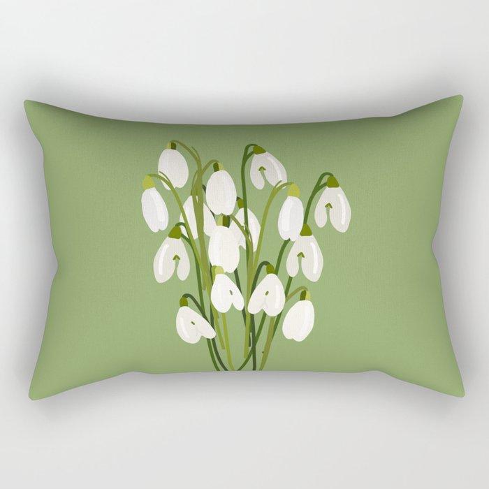 Bouquet Of Snowdrops Rectangular Pillow