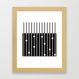 Combined black and white pattern . Framed Art Print