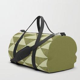 Geometric concrete guacamole shades triangles Duffle Bag