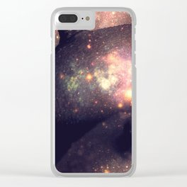 Galaxy Breasts Mauve Teal Clear iPhone Case